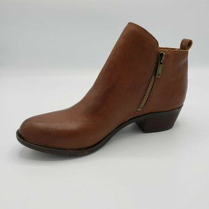 Lucky Brand Brown Leather Basel Ankle Bootie 7.5